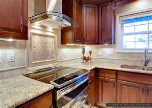 tile white kitchen cabinets brown cabinet countertop antiqued travertine kitchen backsplash tile