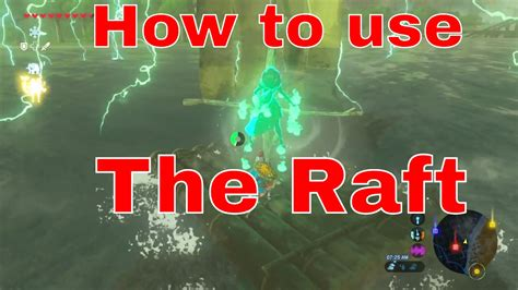 legend of zelda map raft the legend of zelda breath of the wild how to use a raft