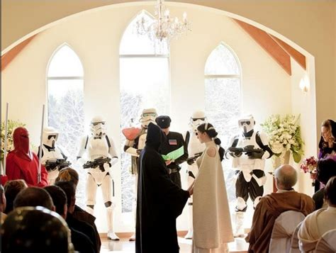 everything you need for a wars wedding minus the evil sith lord huffpost