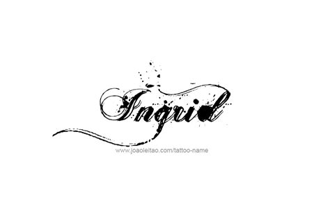 tattoo design name ingrid 26 png