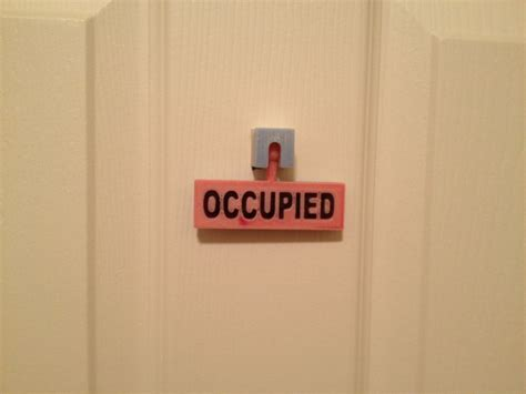 Bathroom Occupied Signs Bathroom Occupied Vacant Sign By Jamesarm97 Thingiverse Things Pinterest Signs And Bathroom
