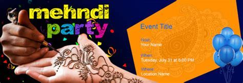 Free Mehndi Party invitation with India?s #1 online tool