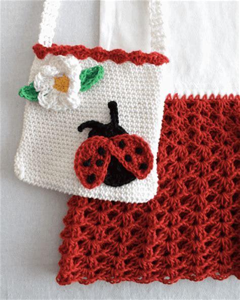 t shirt purse pattern ladybug t shirt dress and purse crochet pattern maggie s