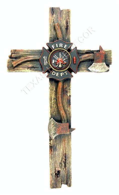 decorative door emblem fireman decorative wall cross axe fire department emblem