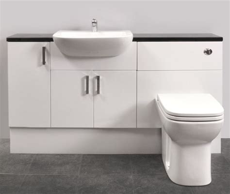 White Gloss Bathroom Furniture by Gloss White Fitted Bathroom Furniture 1500mm Package
