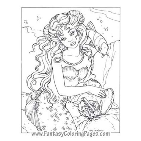 mermaids fairies fantasy coloring books for grown ups fantasy coloring pages world s best coloring pages
