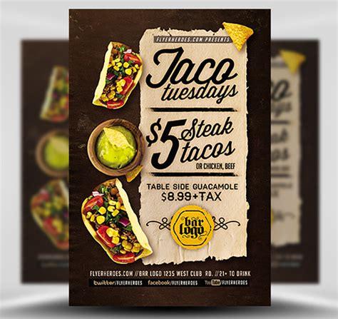 Taco Tuesdays Flyer Template V2 Flyerheroes Taco Flyer Template