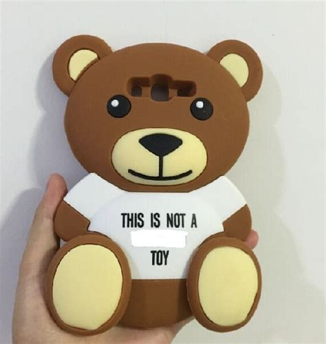 Samsung Galaxy J5 3d Teddy Brown Soft Silicone T1910 3d teddy silicone back for samsung