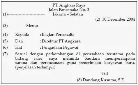 contoh surat edaran memo pengumuman dan disposisi the knownledge