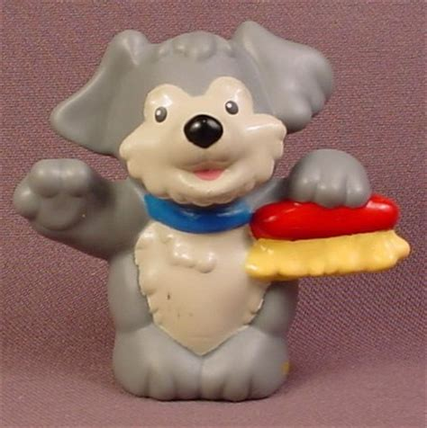 skiff street car wash fisher price little people 2009 gray puppy dog with scrub