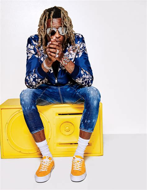 young thug yellow eyes young thug proves high fashion has gone crazy which makes