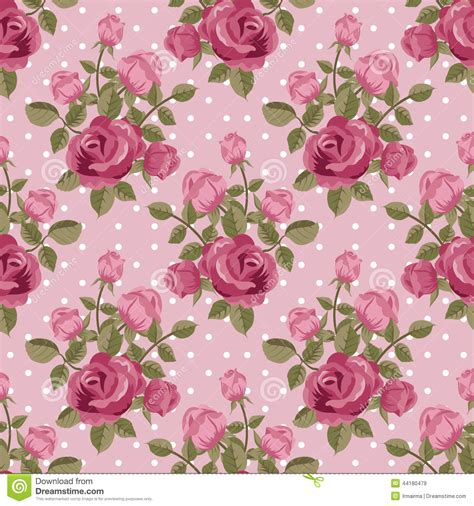 pink rose pattern clipart pink rose wallpaper stock vector illustration of polka