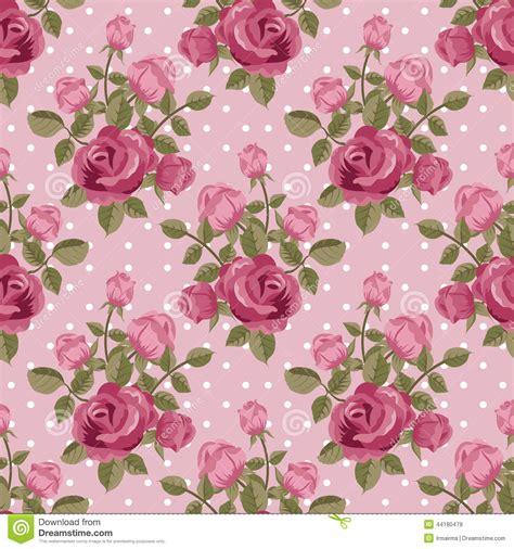 pink rose pattern pink rose wallpaper stock vector illustration of polka