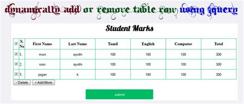 javascript table layout javascript jquery append and remove dynamic table row