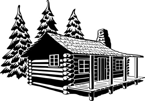 Cottage Silhouette by Cabin Clipart Clip At Clker Vector Clip
