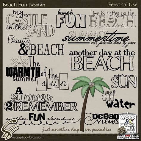beach quotes  scrapbooking quotesgram