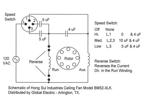 ceiling fan capacitor wiring diagram free