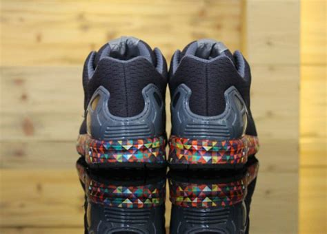 adidas zx flux multicolor prism sole sneakers actus