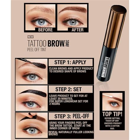 maybelline tattoo maybelline brow easy peel tint 4 9ml feelunique