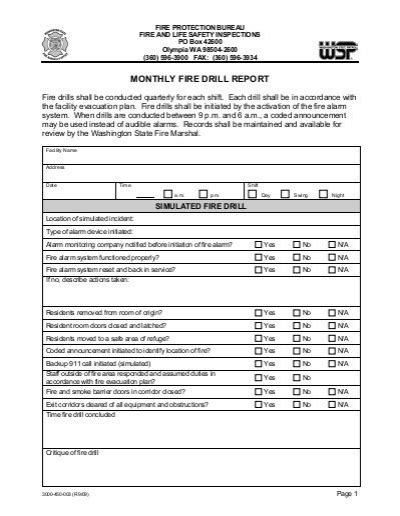emergency drill report sle emergency drill report sle 28 images drill report