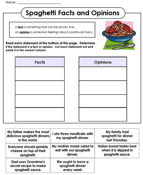 picture books to teach fact and opinion fact and opinion worksheets