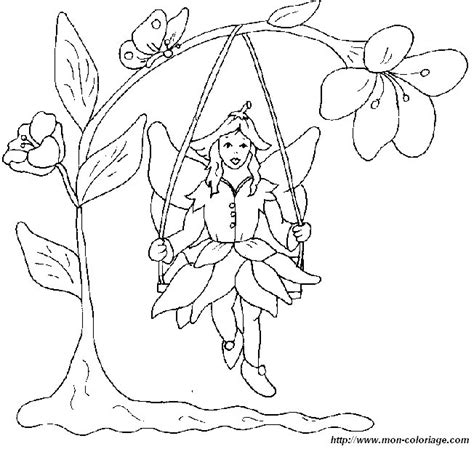 flower fairy coloring coloring pages
