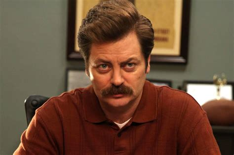 nick offerman out there nick offerman on his new show there s no attempt to go