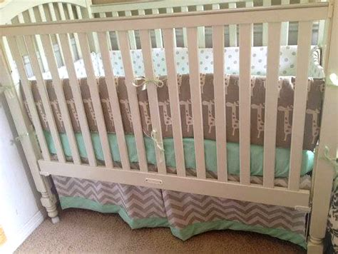 Giraffe Baby Bedding Crib Sets Mint Giraffe Baby Bedding Set Babylovin