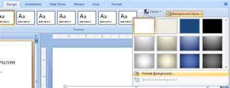 design background microsoft powerpoint 2007 create a picture or texture background style background