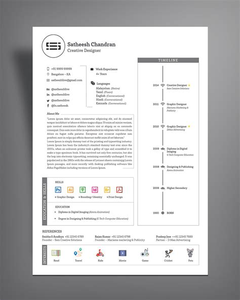 Resume Templates Design Professionals free simple professional resume cv template design ai