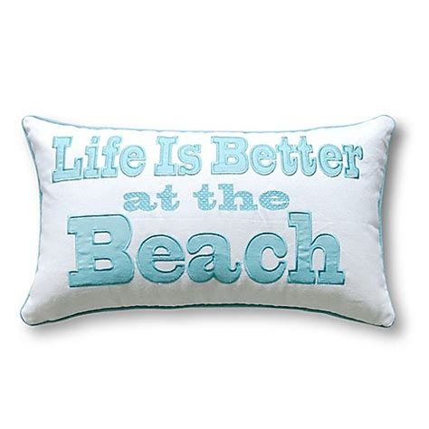 pacific coast pillows bed bath beyond coastal oblong throw pillow in aqua bed bath beyond