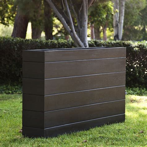 tall narrow planters madera rectangle planter boxes