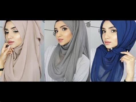 easy full coverage hijab styles saimascorner youtube