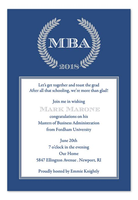 Mba Graduation Announcements Cards by Mba Graduation Announcement Sles Invitations Ideas
