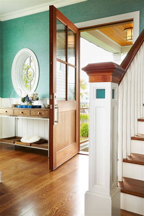 turquoise hallway country entrance foyer peter peter cadoux architects house of turquoise