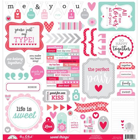 Sweet Things Sticker doodlebug sweet things this that stickers