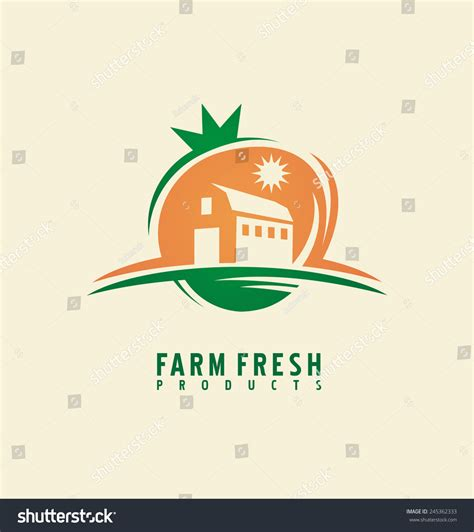 layout design logo farm fresh product label design layout organic food logo