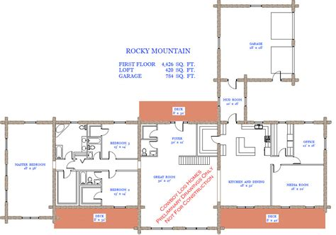rocky mountain log homes floor plans rocky mountain plan 4 846 sq ft cowboy log homes