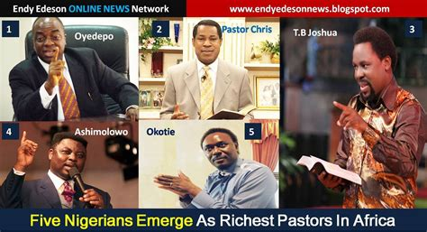 The 2015 Top 5 Richest Pastors In Africa Are Nigerians Check Out Their Net Worth Photos by Five Nigerians Emerge As Richest Pastors In Africa Religion Nigeria