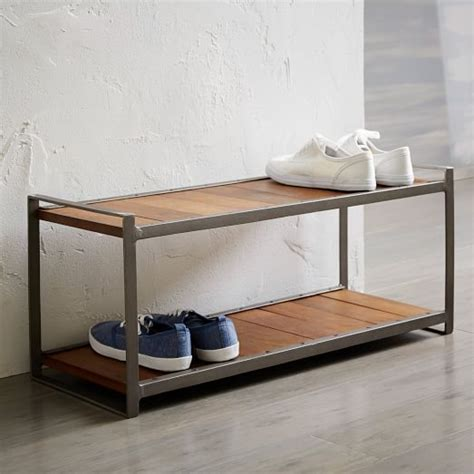 The Shoe Rack Locations by Industrial Shoe Rack West Elm