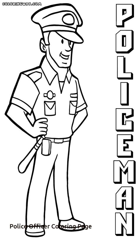 thank you police officer coloring page police officer coloring page freecolorngpages co