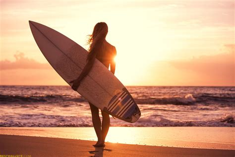 wallpaper girl surf wallpaper surfing girl beach sun sea sport 11219