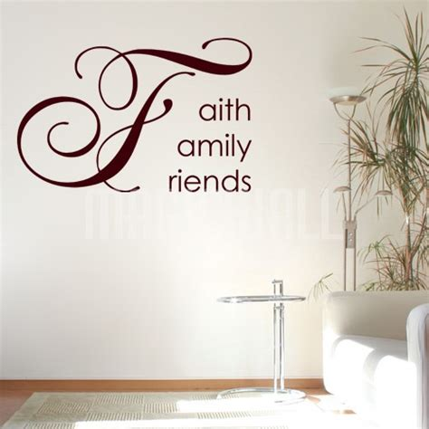 wall word stickers wall stickers faith family friends wall words wall