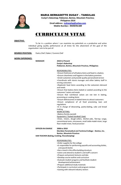 resume template for ojt free objectives in resume for ojt sidemcicek