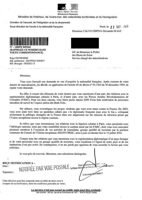 Exemple Lettre De Demande De Naturalisation lettre de demande de naturalisation gratuite
