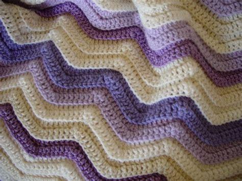 crochet wave ripple pattern stitch knitting bee crochet blanket patterns single crochet ripple afghan