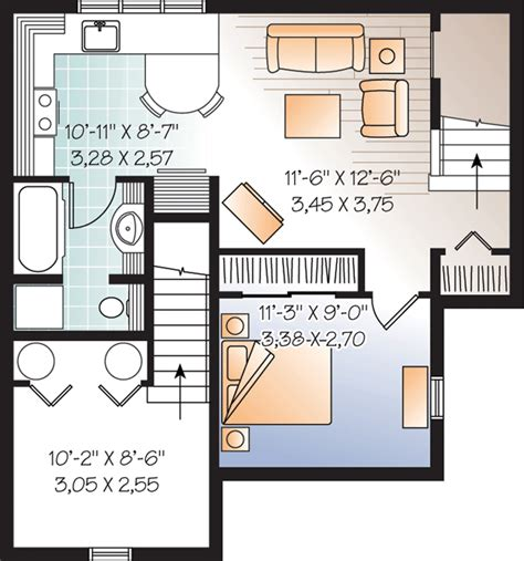House Plans With Basement Apartments Alternate Basement Floor Plan 1st Level 3 Bedroom House