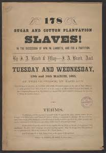 history of american slave auctions advertisement for 1855