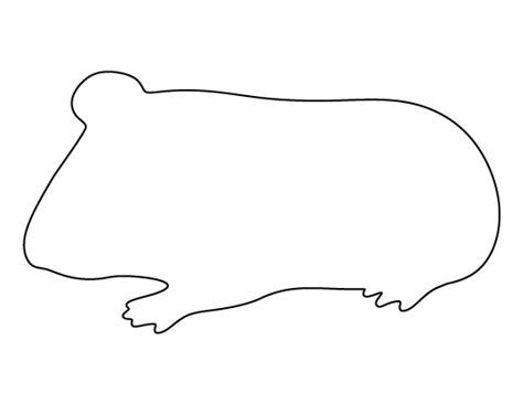 pattern universe pig printable guinea pig template
