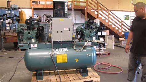 curtis hp dual air compressor   gallon tank